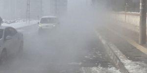 Diyarbakır'da kar yağışından sonra yoğun sis oluştu