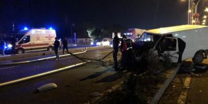 Diyarbakır'da meydana gelen trafik kazasında 2 kişi yaralandı