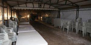 Özpınar köyünde taziye çadırı kuruldu