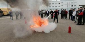 Diyarbakır Bağlar Belediyesi personeline itfaiye eğitimi verildi