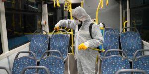 Diyarbakır'da toplu taşıma araçlarında salgın hastalıklara karşı önlemler alınıyor