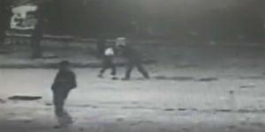 Kadını darp eden kişi MOBESE kameralarına yakalandı