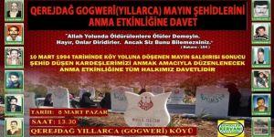 """PKK tarafından katledilen """"Karacadağ Mayın Şehidleri"""" anılacak"""
