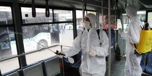 Bingöl'de toplu taşıma araçları dezenfekte edildi