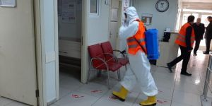 Diyarbakır'da, sağlık merkezlerinde dezenfekte çalışması yapıldı