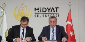 """Mardin'de """"MİDMEK Eğitim Projesi Protokolü"""" imzalandı"""