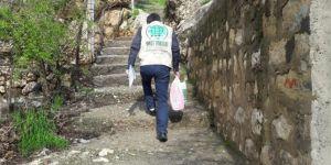Muhtaçlara hijyen paketi yardımı yapıldı