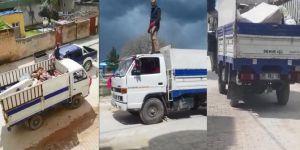 Kızıltepe'de sorumsuz sürücü mahalleliye korku dolu anlar yaşattı