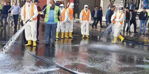 Diyarbakır sokakları Corona virüse karşı dezenfekte ediliyor