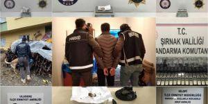 Şırnak'ta kaçakçılık operasyonlarında 61 kişi gözaltına alındı