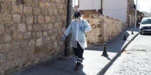 Mardin'de tarihi yapılar ve sokaklar dezenfekte ediliyor