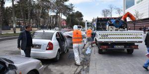 Tatvan'da araç dezenfekte istasyonu kuruldu
