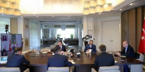 Erdoğan holds a meeting with the Presidential Cabinet via video conference
