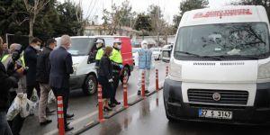 Gaziantep Valisi Gül, işçi servilerinde sosyal mesafe denetimi yaptı