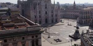 İtalya cadde ve sokaklarında ölüm sessizliği hakim