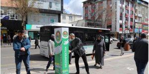 Bingöl Belediyesi el dezenfektan noktaları oluşturdu
