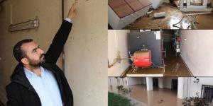 Kapıcı ve kazan dairelerine sel suyu basan Memur-Sen TOKİ Yönetimi belediyeyi suçladı