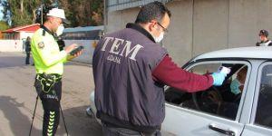 Adana'ya giriş çıkışlarda alınan önlemler arttırıldı