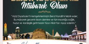Diyarbakır Valisi ve Büyükşehir Belediye Başkan Vekilinden Berat Kandili mesajı
