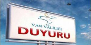 Van'da tüm etkinlikler 15 gün süreyle yasaklandı