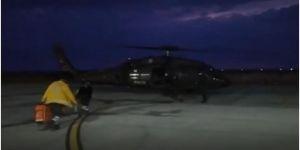 Bahçesaray'da doğum yapan ve hayati tehlikesi bulunan kadın, helikopterle hastaneye ulaştırıldı