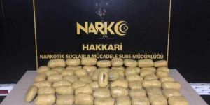 Yüksekova'da 31 kilogram uyuşturucu madde ele geçirildi