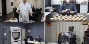 Covid-19 hastaları için solunum yolunu görüntüleyen cihaz üretildi