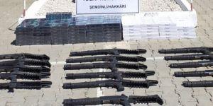 Hakkari'de 16 adet yarı otomatik pompalı tüfek ele geçirildi