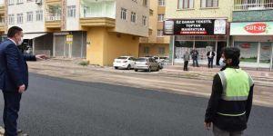 Bağlar Belediye Başkanı Beyoğlu, asfalt çalışmalarını denetledi