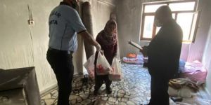 İLKHA'nın haberleştirdiği evi yanan aileye Bağlar Belediyesi yardımda bulundu