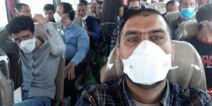 Covid-19 nedeniyle Irak'tan Diyarbakır'a getirilen 81 işçi yurda yerleştirildi