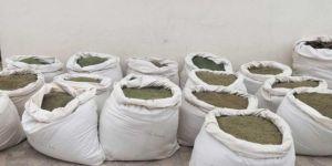Kocaköy'de 158 kilogram esrar ele geçirildi