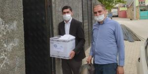 Mazıdağı'nda Eğitim-Bir-Sen'den muhtaçlara gıda yardımı