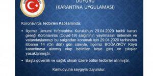 Batman'da Boğazköy köyü karantinaya alındı