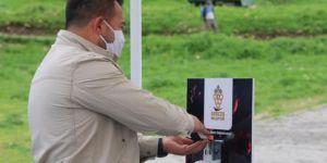 Gercüş'te pazar girişinde dezenfektan standı kuruldu