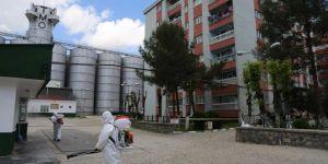 Diyarbakır'da karantina altına alınan 2 bina dezenfekte edildi