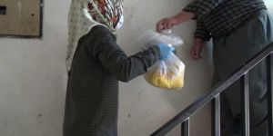 Adıyaman'da bir iftar'da benden olsun kampanyası ile evlere iftar yemeği