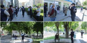 Gaziantep'te sosyal mesafe denetimi yapıldı