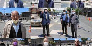 Diyarbakır'da hafta sonu sessizliğinde 65 yaş üstü vatandaşlar sokağa çıktı