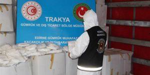 Kapıkule Sınır Kapısı'nda 573 bin adet tıbbi maske ele geçirildi