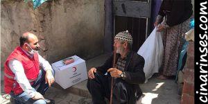 Kızılay, Diyarbakır'da 700 aileye Ramazan yardımında bulundu