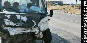 Nusaybin'de kamyonet TIR'a arkadan çarptı: 1 yaralı