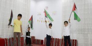 Çocuklar, Kudüs ve Mescid-i Aksa sevgisini evlerine taşıdı