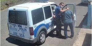 Siverek'te polisin öğretmeni darp ettiği anlar güvenlik kamerasında