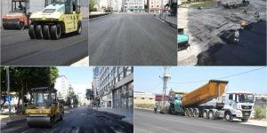 Adana'da asfaltlama çalışmaları devam ediyor