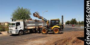 Diyarbakır Büyükşehir Belediyesi, kazalara neden olan kavşakta çalışma başlattı