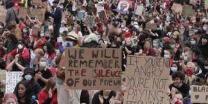 George Floyd'un ölümü Londra'da protesto edildi