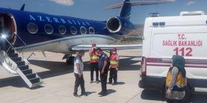 Azerbaycan'dan özel uçakla getirilen hasta Malatya'da tedavi altına alındı
