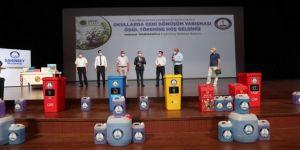 Gaziantep'te atık pil toplama yarışmasında dereceye giren okullar ödüllendirildi