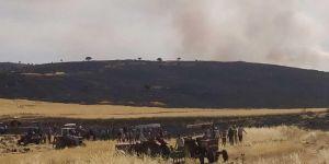 Çınar'ın Yazçiçeği köyünde 200 dönüm ekili alan yandı